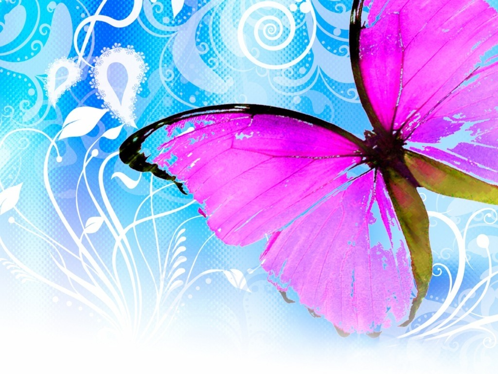 WnP: Wallpapers & Pictures: Wallpapers Beautiful Butterfly Animated Pink Butterflies