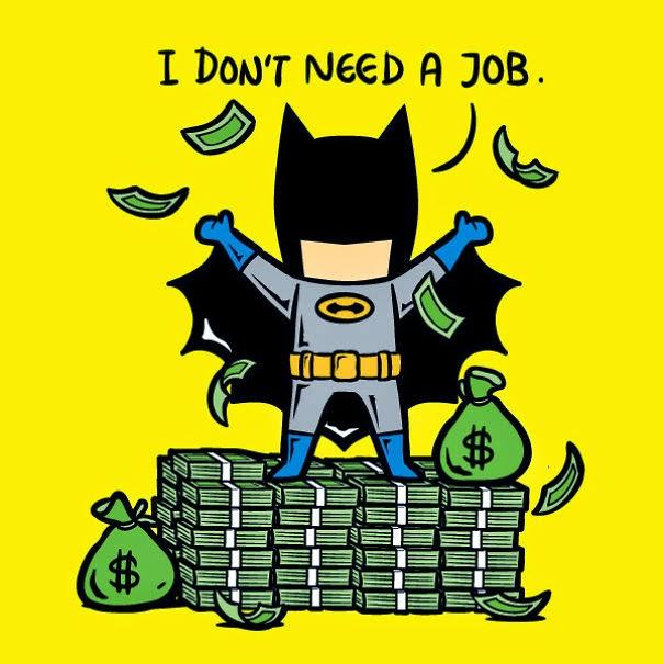 Esto pasaría si los superhéroes tuvieran que trabajar