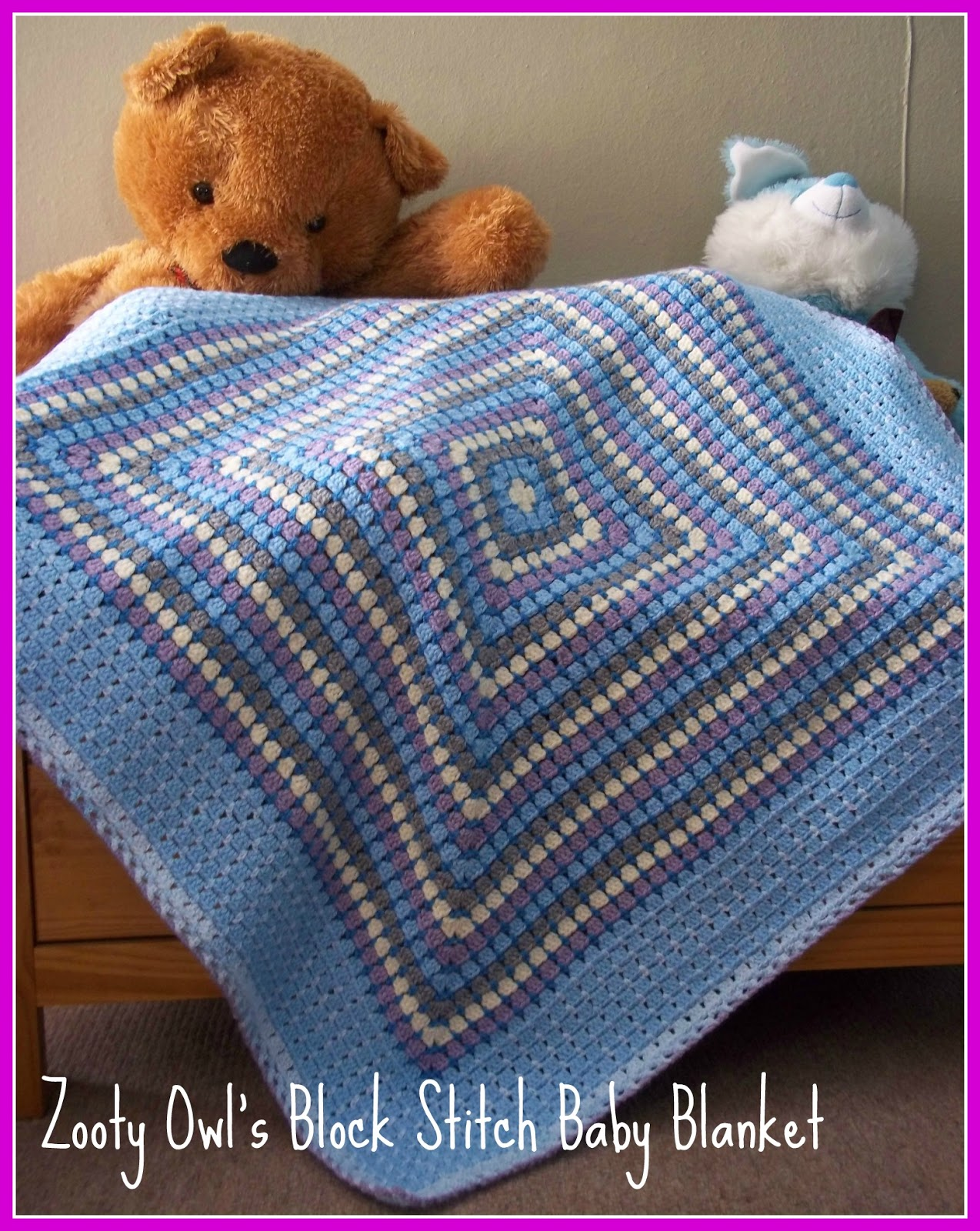 Zooty Owl\'s Crafty Blog: Block Stitch Baby Blanket