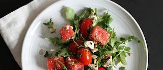 Salada de melancia com tomate light