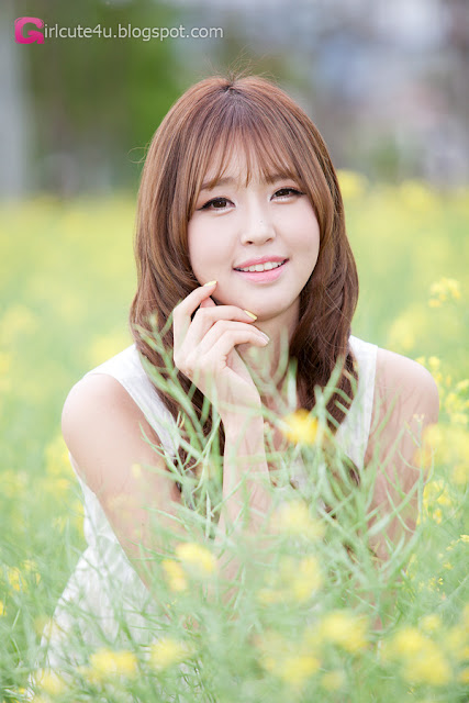 4 Choi Byeol Ha in White - very cute asian girl - girlcute4u.blogspot.com