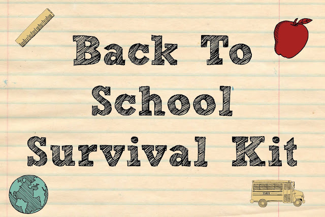 Back To School Survival Kit - Teacher Gift, back to school survival kit,  free printables, back to school gifts for teachers, easy DIY teacher gift