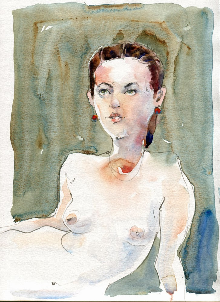 Watercolour nude 20131023 by David Meldrum