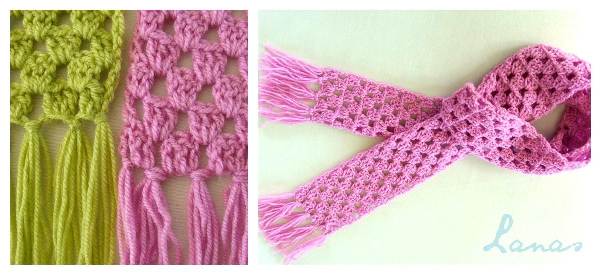 Lanas De Ana Granny Stripes Scarf Graphic Pattern