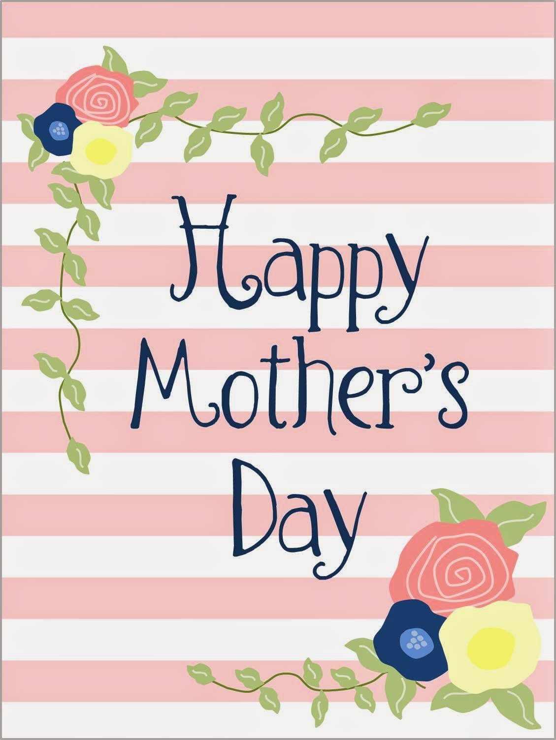 This is a picture of Gorgeous Happy Mother's Day Printable
