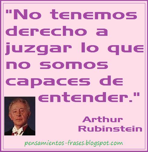 frases de Arthur Rubinstein