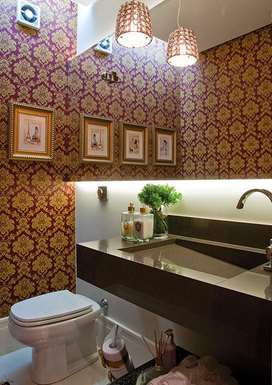 dicas decoracao lavabos pequenos:30 Lavabos pequenos e modernos – veja dicas de como ousar e decorar