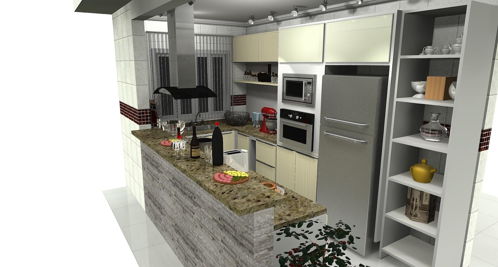 For Fotos De Cozinhas Conjugadas Copa E Cozinha Projetos Pelautscom #8F6E3C 1600 858