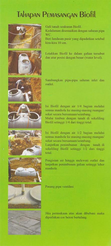 cara pasang septic tank biofil, induro internasional, sni, standar nasional indonesia, biotank, biotech, biogift, biohitech
