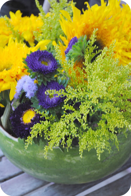 Basket Flower Arrangement Step By Step : Watermelon basket floral arrangement diy tutorial the