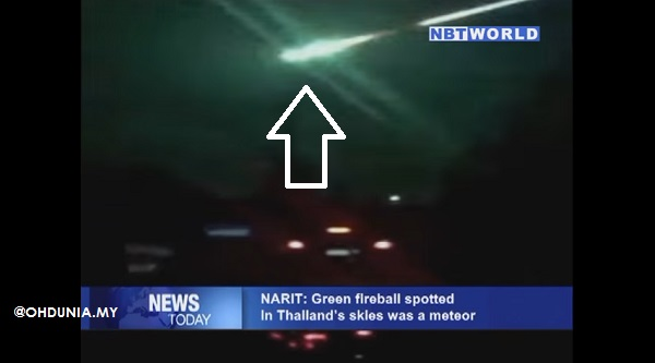Bebola Api Besar berwarna Hijau muncul di ruang angkasa Thailand