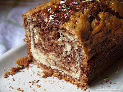 Gâteau au yaourt marbré au Nutella (voir la recette)
