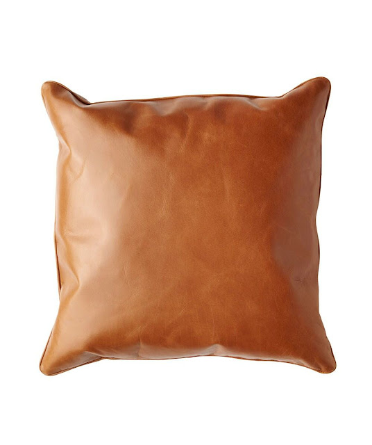 Hunting For George Tan Leather Cushion