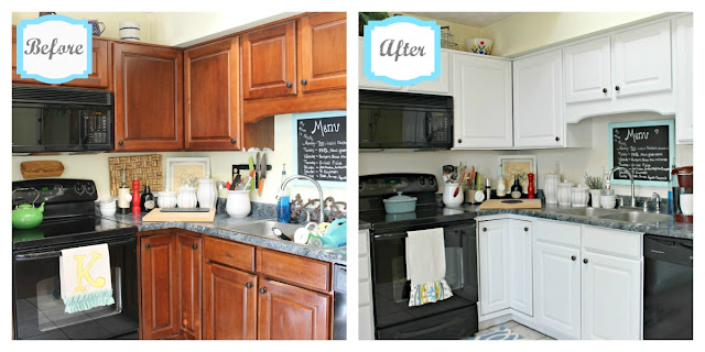 beforenafter Mom keeping it 4 real in Kentucky home tour {Charming, recently renovated diy kitchen makeover}