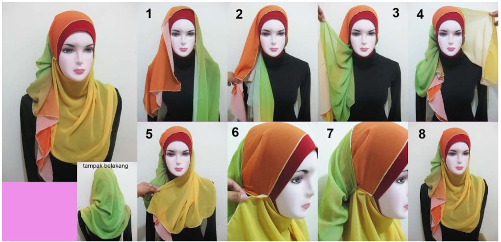 Cara Mudah Memakai Jilbab Pashima Dengan Gambar
