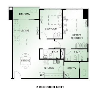 The Maridien at High Street South Block Two Bedroom Unit Plan