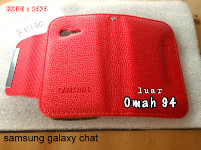 Jual Wallet Book PDA Leather Case Samsung Galaxy Chat B5330 Merah (Red