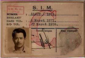 bintancenter.blogspot.com  -Bentuk SIM Tahun 70-An