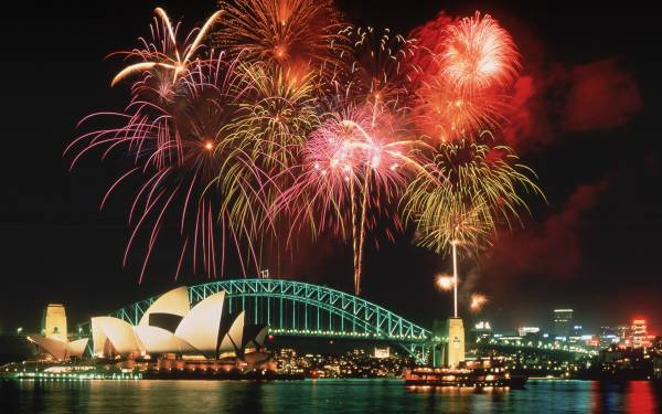 laptop wallpaper new year fireworks
