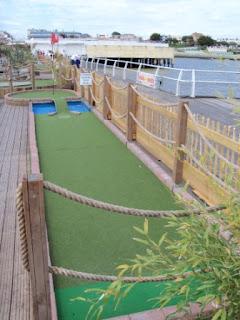 Adventure Golf course on Clacton Pier