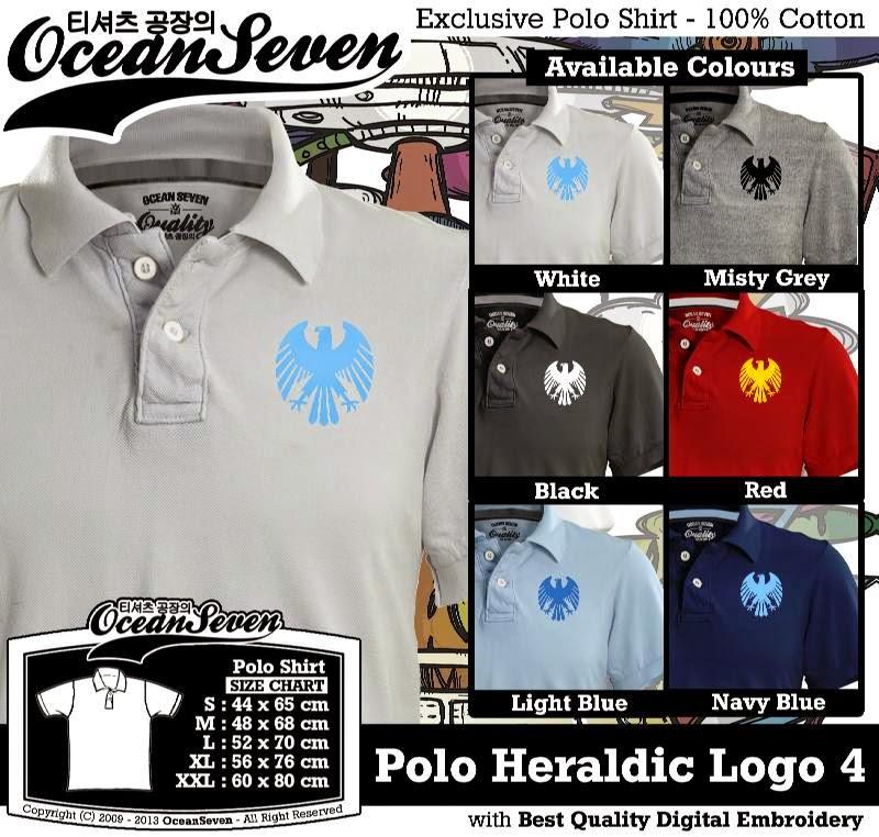 Kaos Polo Heraldic Logo 4