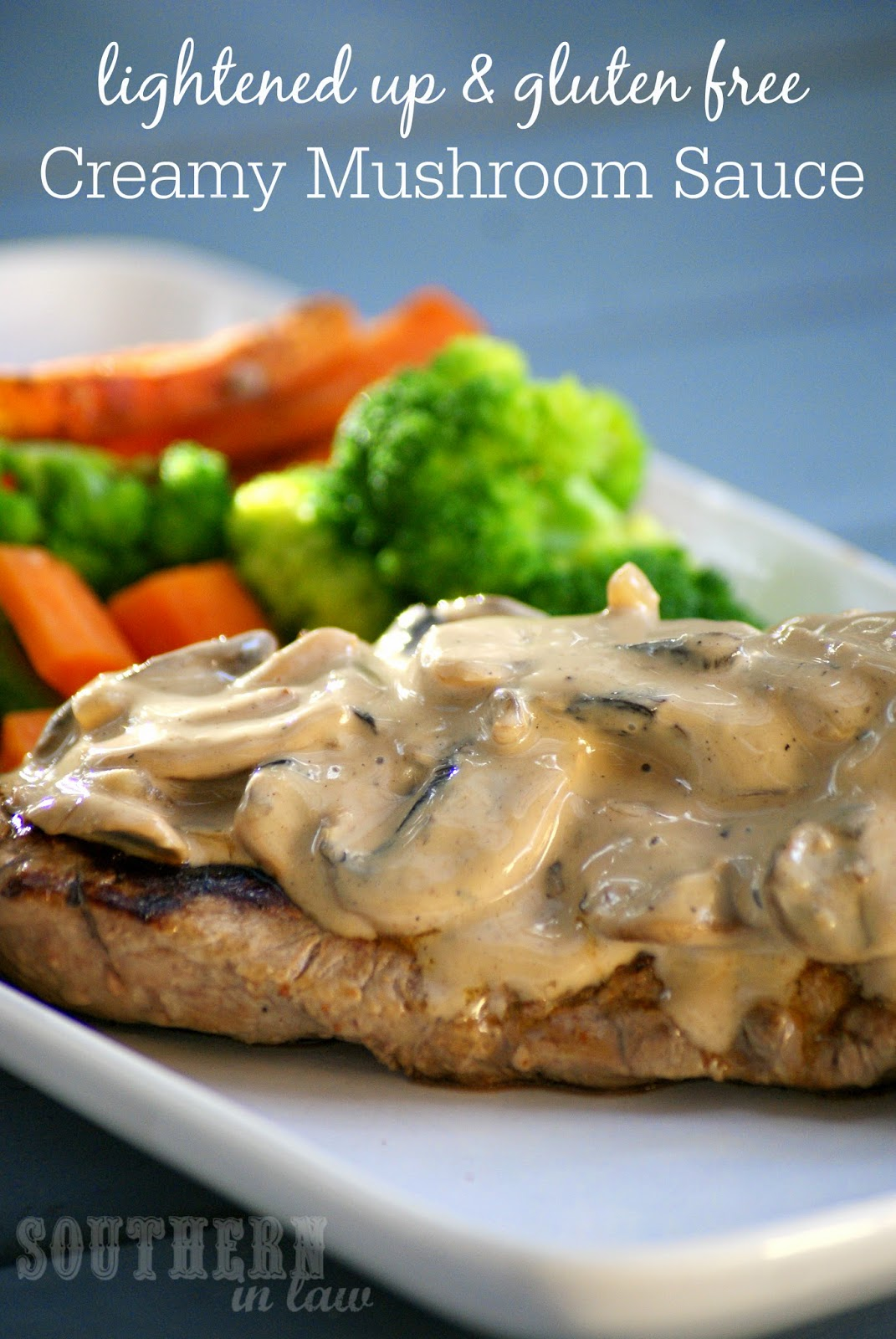 Low Fat Creamy Mushroom Sauce Recipe - low fat, gluten free, clean eating friendly, low carb, healthy, lightened up