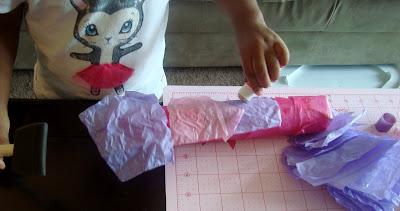 tissue paper cardboard tube