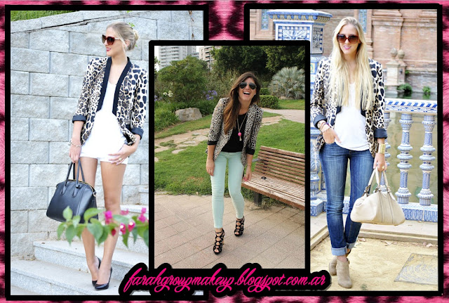 Blazer animal print looks
