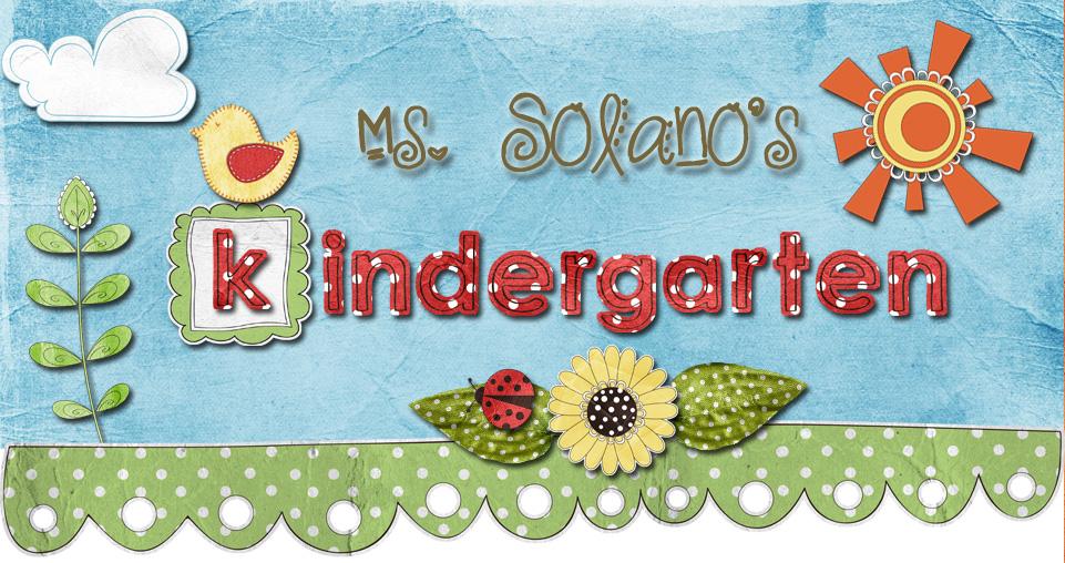 Ms. Solano's Kindergarten Class