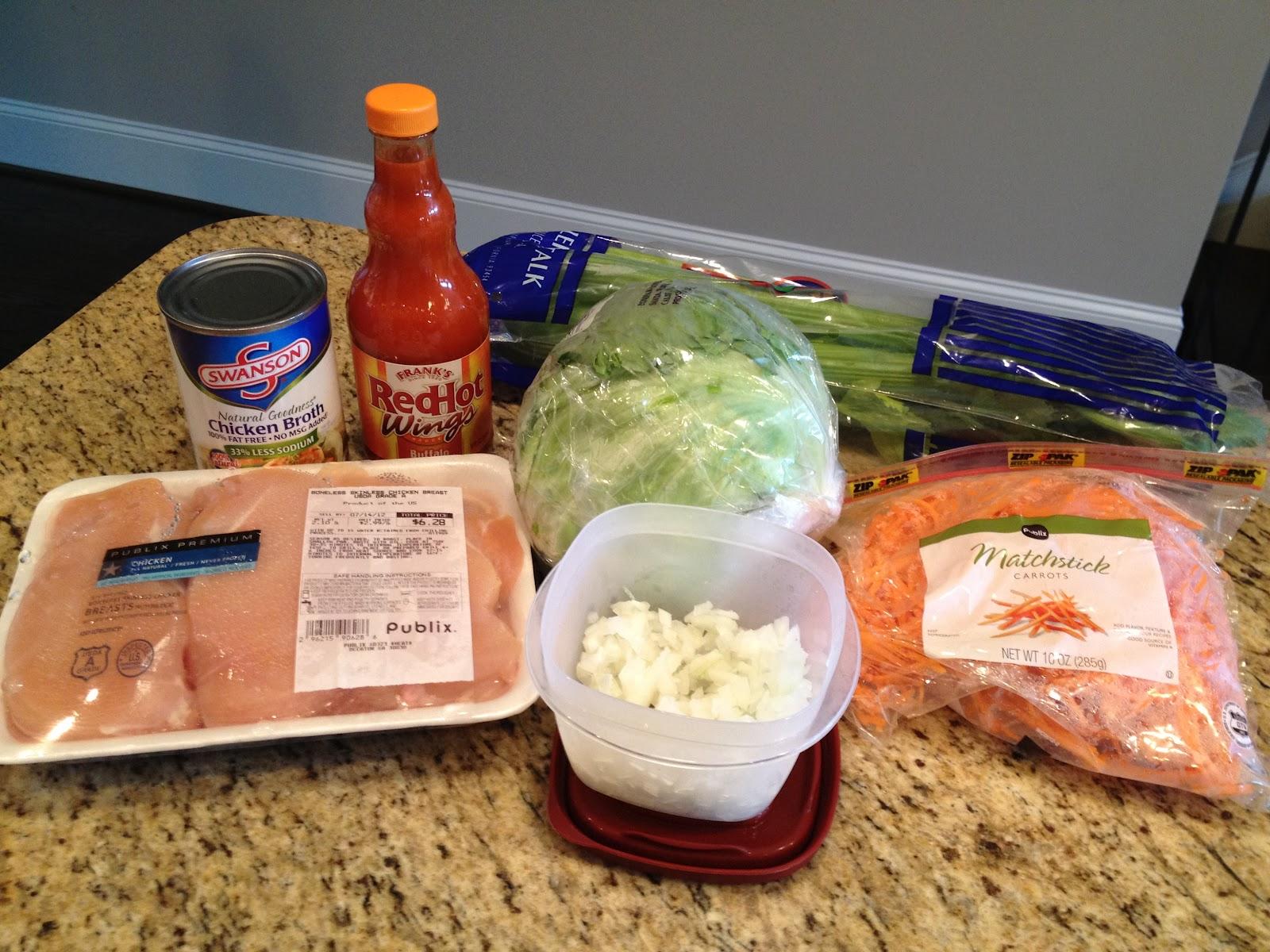 Lemonade and Lipgloss: Crock Pot Buffalo Chicken Lettuce Wraps