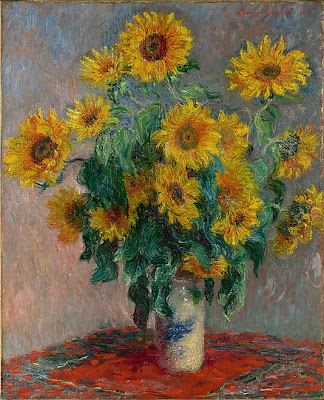 Claude Monet - bouquet of sunflowers 1881