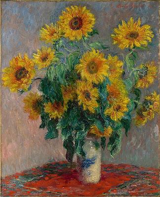Claude Monet - bouquet of sunflowers 1881