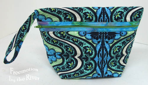 Cosmetic pouch made with Amy Butler fabrics