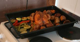 Superb roast just before serving up