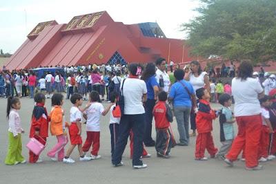 Asistencia masiva de niños y jóvenes a museo Tumbas Reales de Sipán de Lambayeque