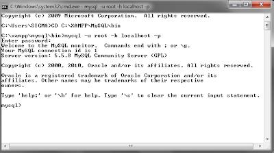113 MySQL dengan menggunakan Command Prompt (CMD)