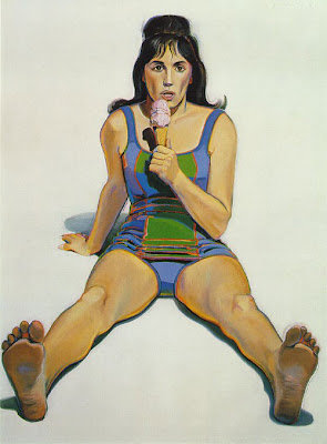 Girl with Ice Cream Cone by Wayne Thiebaud