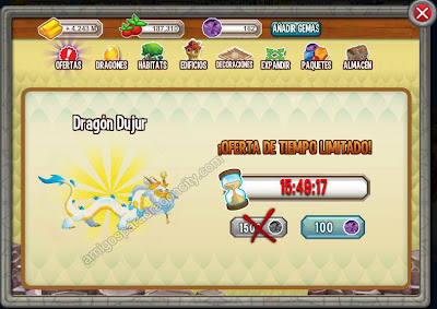 Dragon Dujur A Solo 100 Gemas En Dragon City | Amigos Para Dragon City