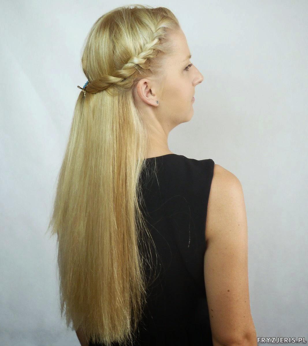 fryzura na lato splot