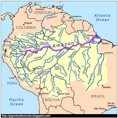 mapa Rio Amazonas