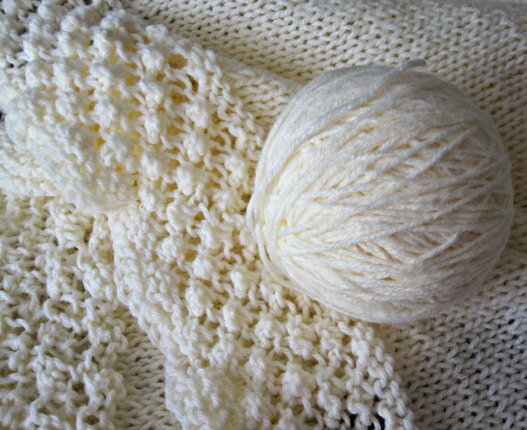 Closeup of Trinity Stitch Knitting