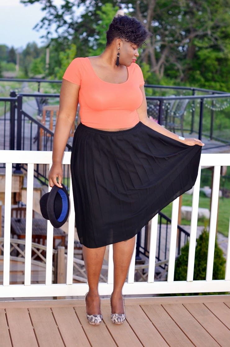 Plus size style inspiration: Crop tops
