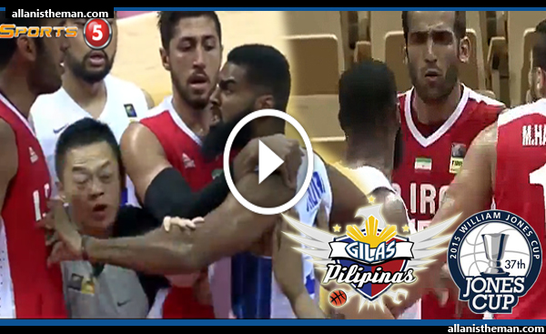 Moala Tautuaa - Hamed Haddadi SCUFFLE (VIDEO) Jones Cup 2015