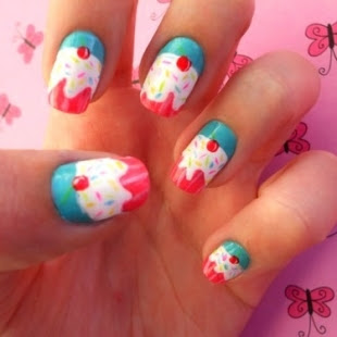 cupcake nail designs ideas-2
