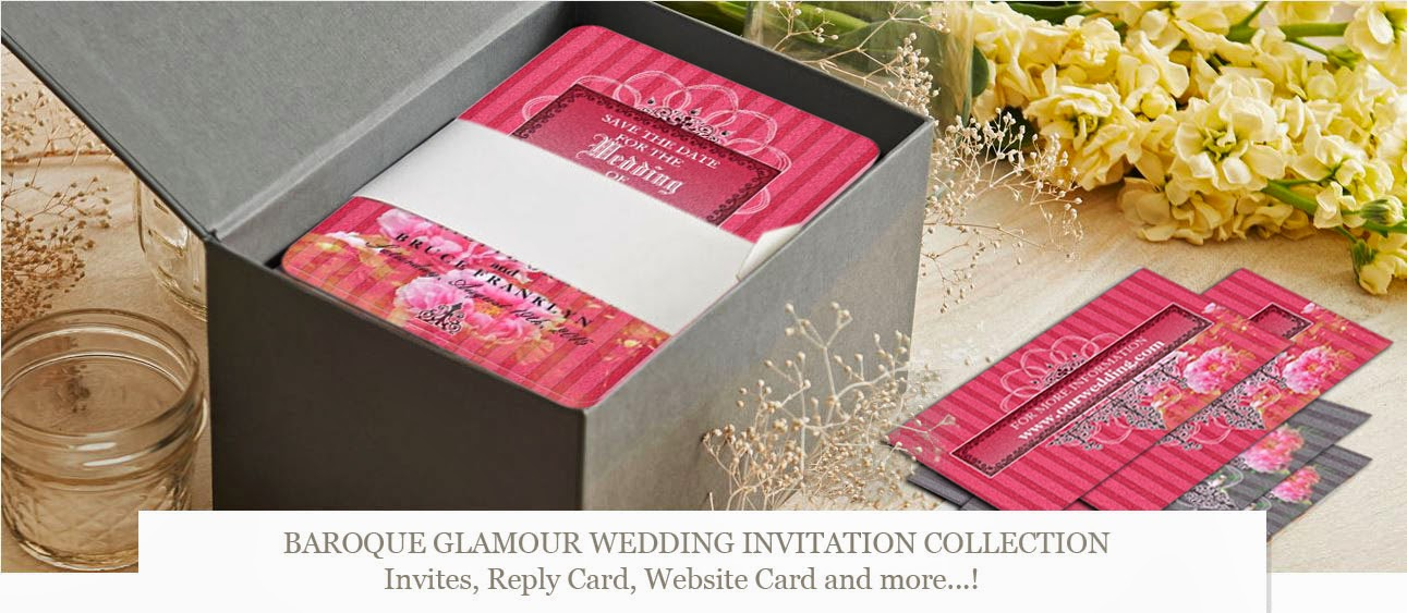 """Baroque Glamour"" ~ Wedding Invitation Collection"