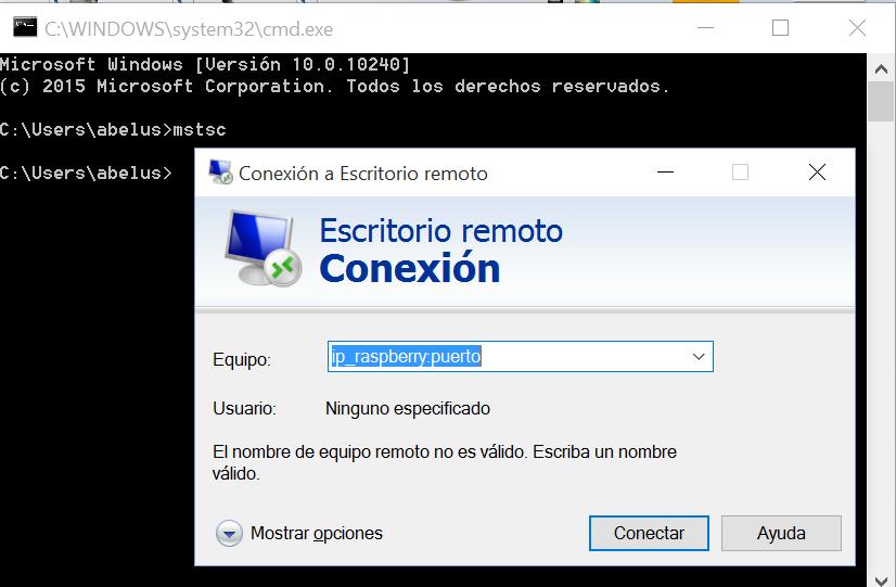Peque os bits sin importancia xrdp en raspberry pi 2 - Puerto de conexion remota ...