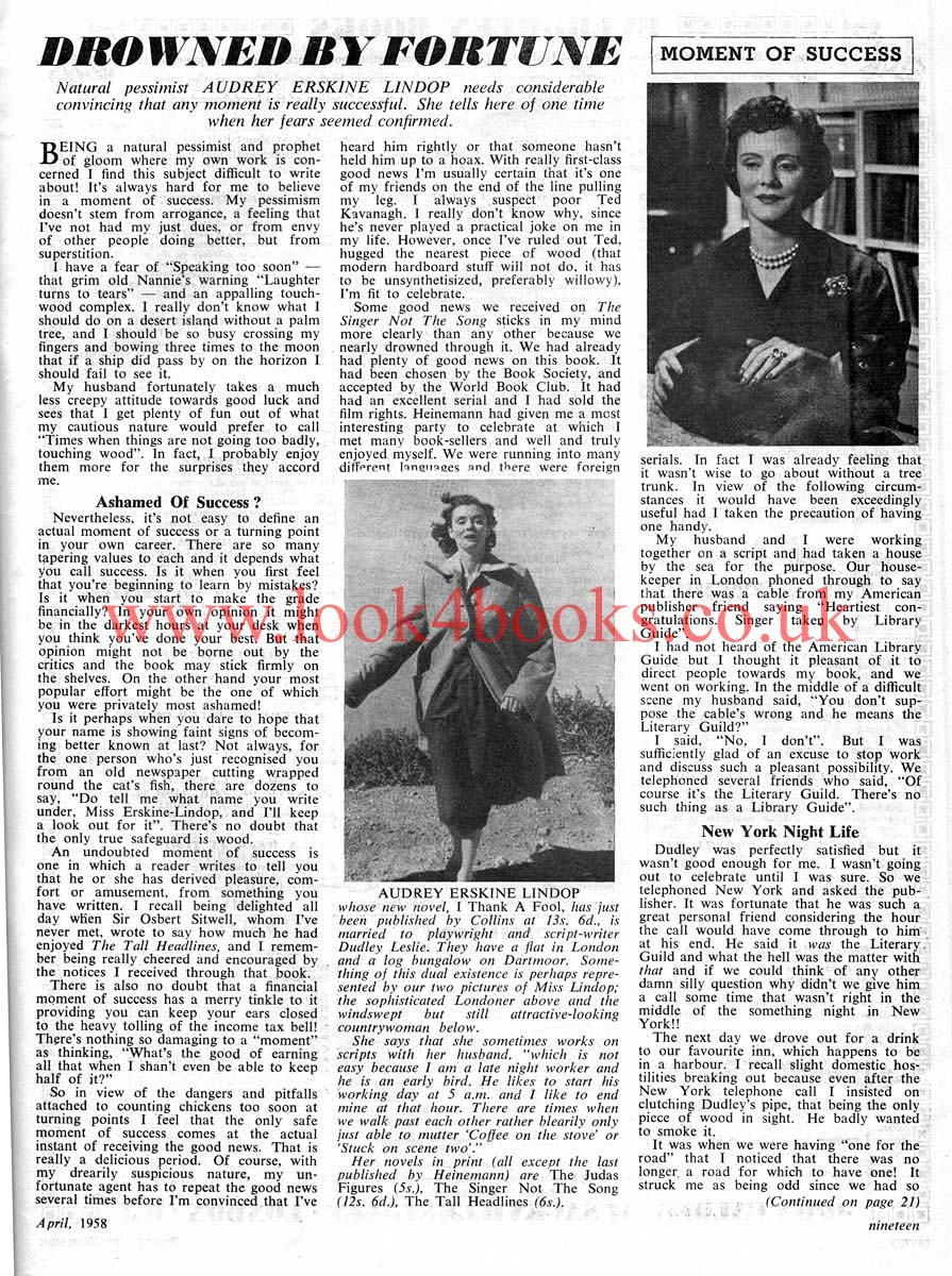 audrey erskine lindop biography of rory