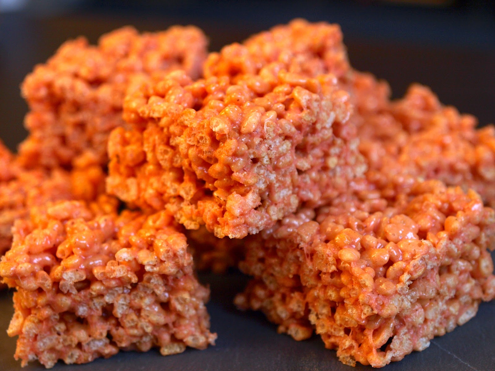 Pumpkin Spice Rice Krispie Treats - Flick of the Whisk