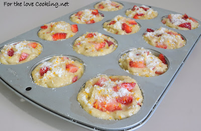Banana, Strawberry, and Orange Muffins