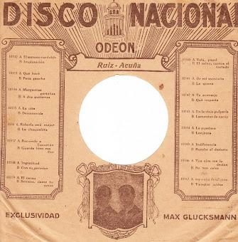 Sobre DIsco Nacional Odeon 1927